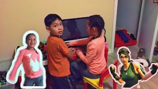 I BABYSAT THEM AND THEY TAUGHT ME HOW TO DANCE #fortnite //Ellie Perez Sanchez