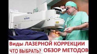 НЕпрофессор - Виды лазерной коррекции зрения. Обзор методов