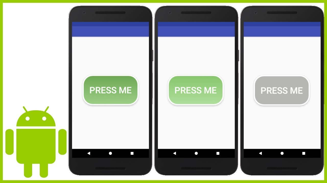 How to Create a Custom Button (With XML ShapeDrawables) in Android Studio