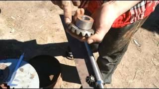 Роторная косилка для мини трактора своими руками #2 (токарные работы)