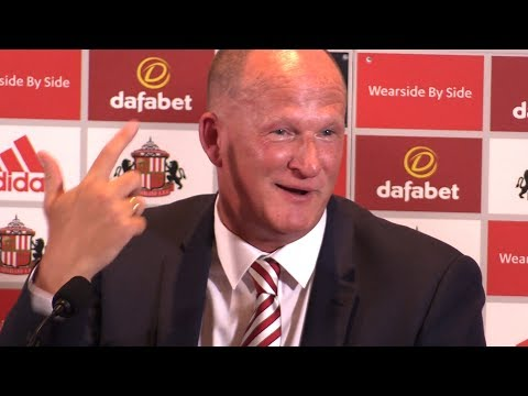 Simon Grayson Holds First Press Conference As Sunderland Manager