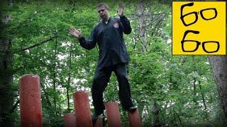 Ходьба по высоким столбам — тренировка равновесия и избавление от страха с Виктором Панасюком