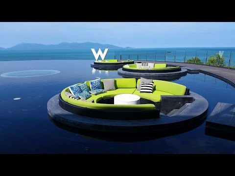 Room walk through at the W Koh Samui Thailand
