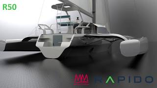 Latest Renderings: Rapido 50 Folding Trimaran