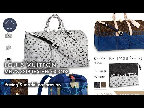 59646ed9d7f4 Louis Vuitton SS18 Men s Leather Goods Preview  Prices   Model Numbers