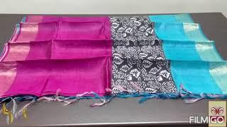 Pure Tussar Silk Sarees (16/9/2021)