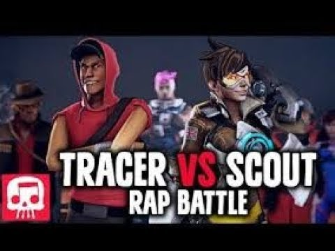 TRACER VS SCOUT Rap Battle by JT Machinima (Animated Version) 1Hour