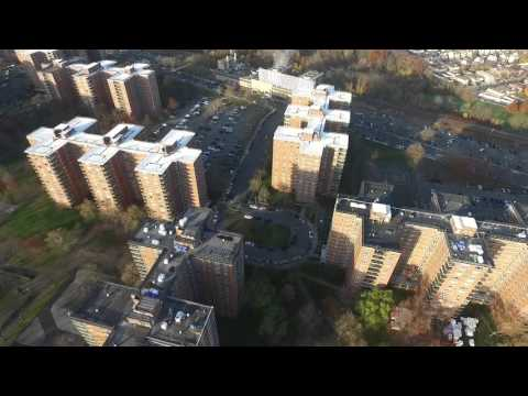 Drone over Rochdale Village, Jamaica, Queens