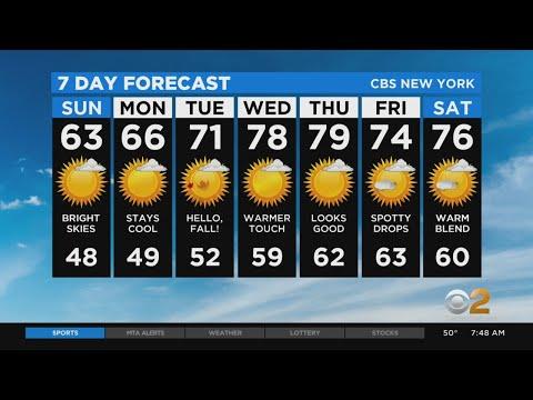 New York Weather: CBS2's 9/20 Sunday Morning Update
