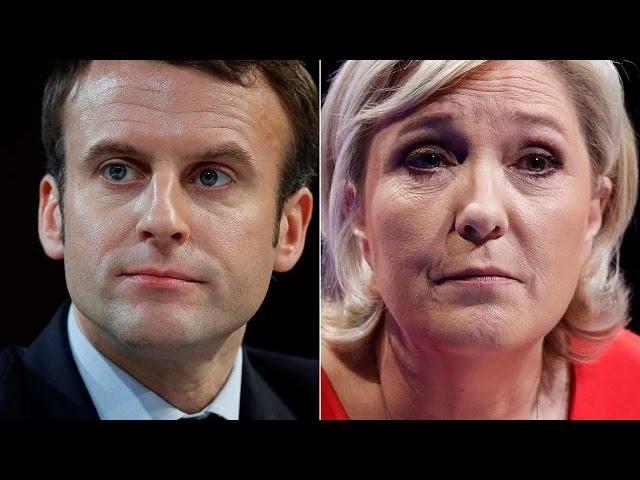 Во второй тур президентских выборов выходят Макрон и Лё Пен