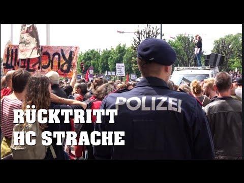 STRACHE tritt zurück: POLIZEIEINSATZ  und Demo in WIEN | Protest in Austria  | 18.05.2019