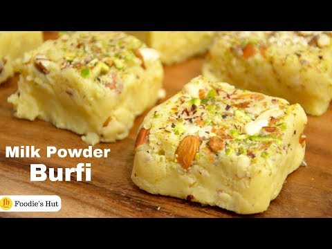 Milk Powder Burfi | Diwali Special Sweets | Recipe By Foodie's Hut #0176