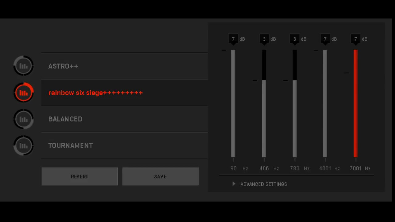 astro a40 mixamp pro   settings for Rainbow six siege   soundwhoring
