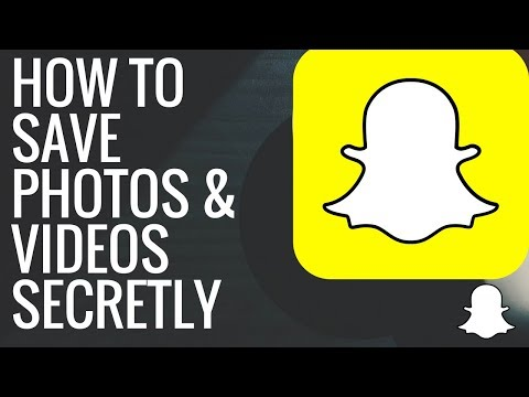 HOW TO SAVE SNAPCHAT PHOTOS AND VIDEOS SECRETLY  hack !!!