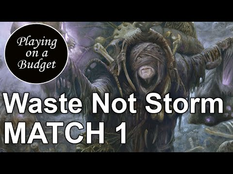 MTG Modern: Waste Not Storm vs Ad Nauseam - Playing on a Budget