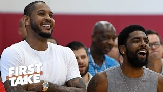 Carmelo Anthony has reportedly been working out with Nets players   First Take
