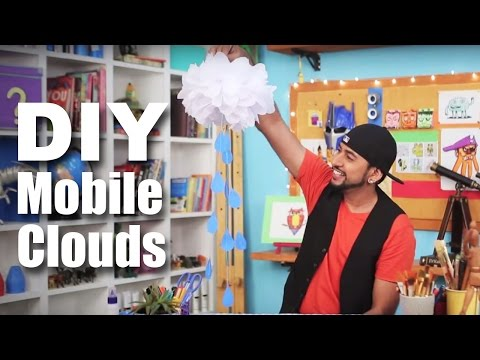 Mad Stuff With Rob - How To Make Mobile Clouds Decorations | DIY Craft | DIY Decorations For Parties