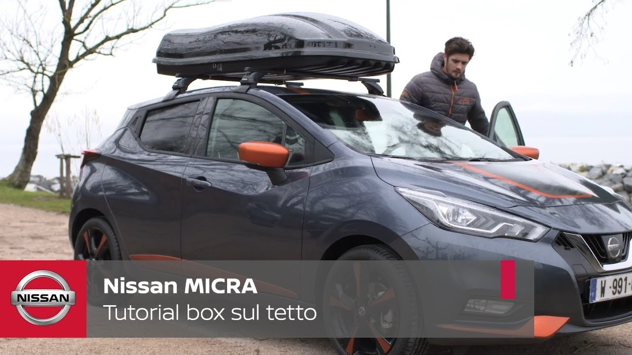 nissan micra tutorial box sul tetto youtube. Black Bedroom Furniture Sets. Home Design Ideas