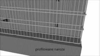 Animacja prezentująca elewacje gabionowe REDHEN