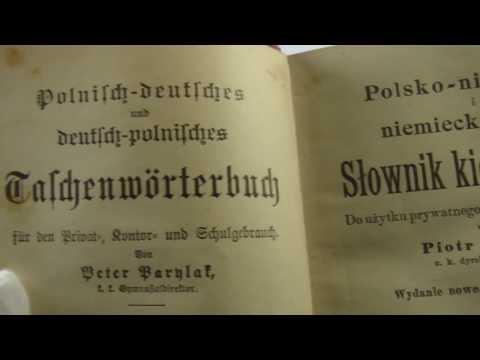 Vintage  Dictionary Polish-German, PARYLAK-ZIPPER Polnisches  Deutsches  1906