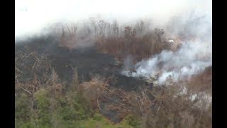New Lava Flows Breakout In Hawaii - Aerial Views