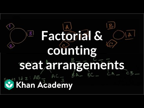 Factorial and counting seat arrangements | Probability and Statistics | Khan Academy