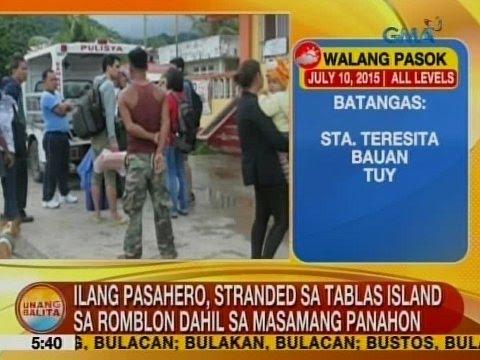 UB: Ilang pasahero, stranded sa Tablas Island sa Romblon dahil sa masamang panahon