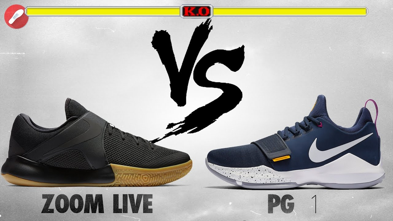 990915af2238 Nike Zoom Live 2017 vs PG 1! - YouTube