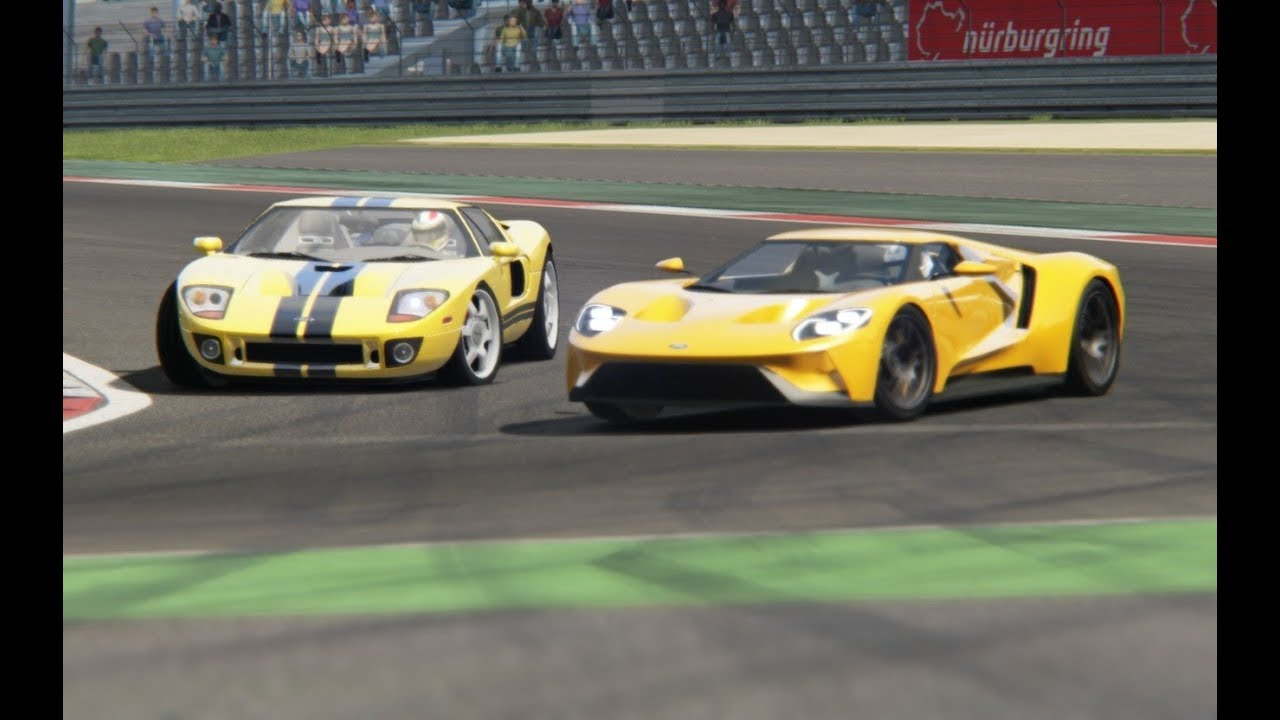 Battle Ford Gt  Vs Ford Gt  At Nurburgring Nordschleife
