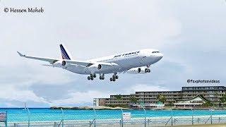 St Maarten Landing ( Air France Airbus A340 ) ( Flight Simulator X / FSX )