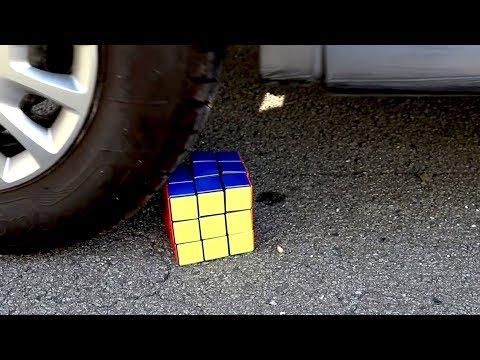 Crushing Crunchy & Soft Things by Car! - EXPERIMENT: RUBIK VS CAR