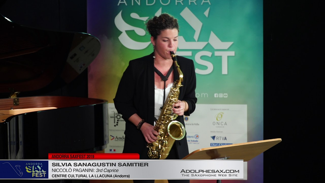 Andorra SaxFest 2019 1st Round   Silvia Sanagustin Samitier   3rd Caprice by Niccolo Paganini