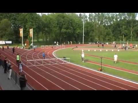 Jesper Arts 51,72 sec. 400m.H. Eef Kamerbeek Games, Eindhoven, 21 mei 2016