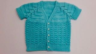 Erkek Bebek Yeleği, 0-6 Ay (Baby Boy Cardigan, 0-6 Month)