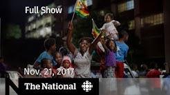 The National for Tuesday November 21, 2017 - Phoenix Pay, Zimbabwe, marijuana
