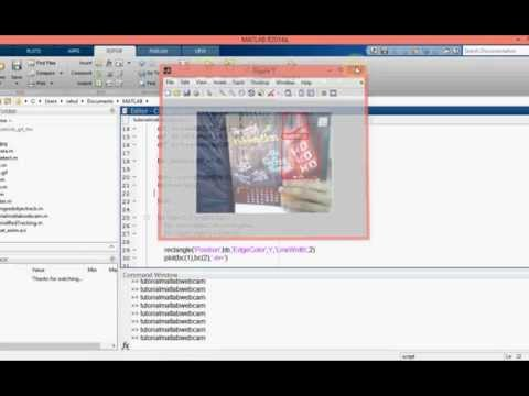 Matlab object tracking using webcam tutorial Matlab ( detect red )