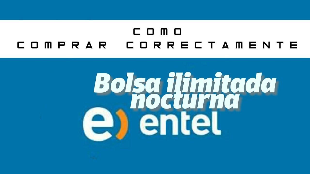 22e22a4b675 Bolsa de datos ilimitados nocturna ENTEL - YouTube