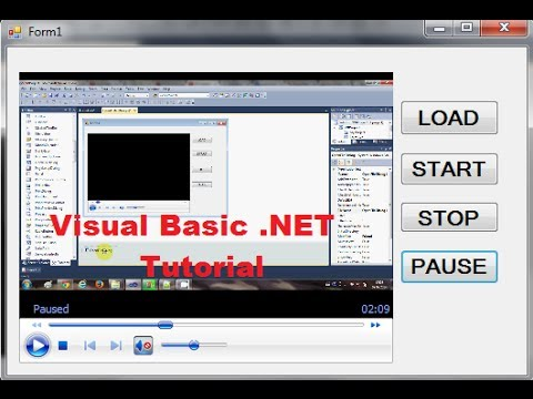 Visual Basic.NET Tutorial 29 - Using the Windows Media Player Control with VB.NET