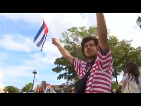Opponents in U S , Cuba celebrate Castro's death