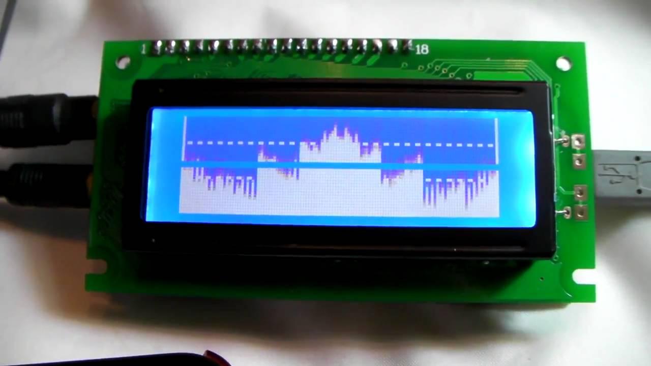 Lcd Audio Specturm Analyzer Youtube