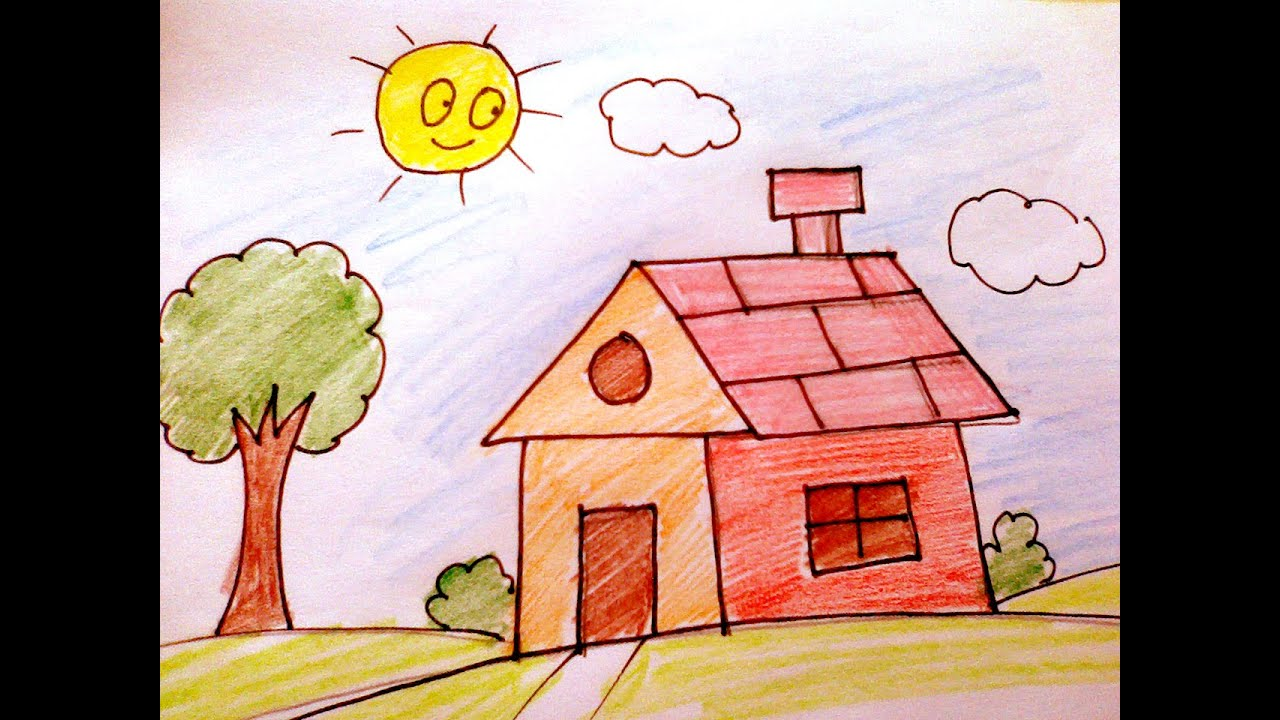 House Drawing For Kids | www.pixshark.com - Images ...