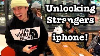 Unlocking Strangers Iphone Magic Trick!