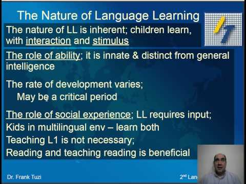 Foundations of Second Language Acquisition