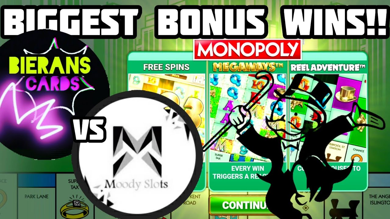 Monopoly Megaways BONUS BATTLE! | Bierans Cards VS Moody Slots! | Biggest BONUS WINS! + BIG WIN!!