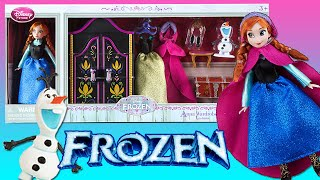 Disney Store Anna Mini Doll Wardrobe Play Set Frozen With Olaf