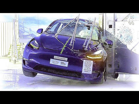 Tesla Model Y ALL Crash Tests [Front, Side, Side-Pole] (2020)