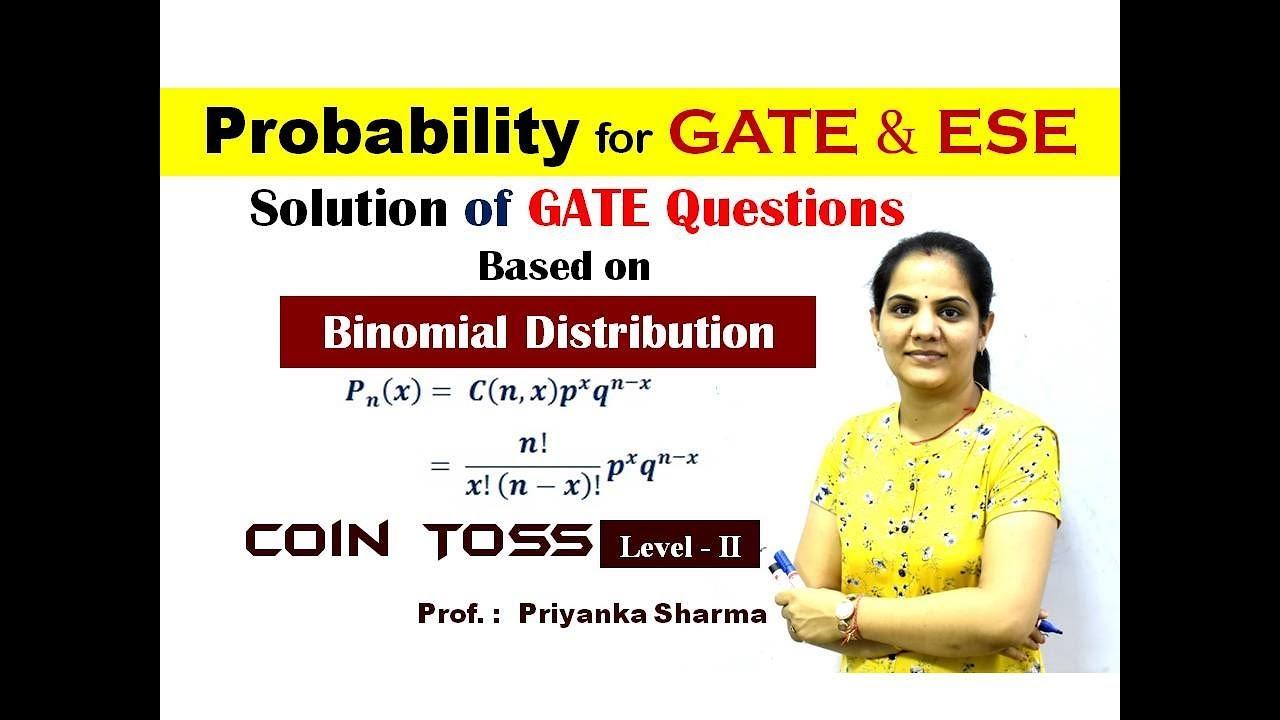 Probability I Binomial Distribution I Coin Toss I Level - 2 I MATH GATE