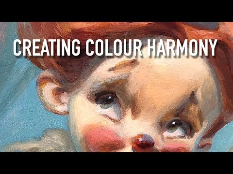 Tips on Creating COLOUR HARMONY✌️Oil painting portrait time-lapse!