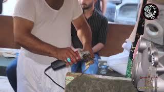 تطبير شارع السكة  -الكوفة العلوية المقدسة / الحاج حسين الخفاجي - المصور طاهر الفحام