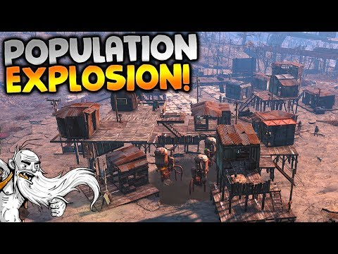 """POPULATION EXPLOSION!!!"" - Fallout 4 Sim Settlements Mod Gameplay Let's Play"